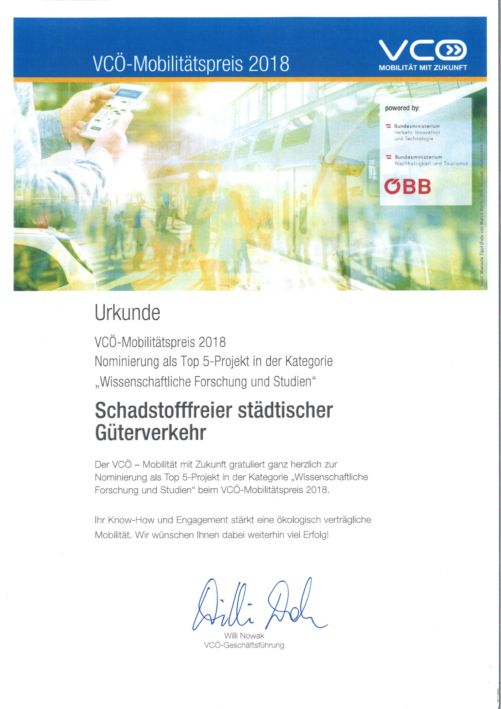 VCÖ Preis 2018 MULE 1
