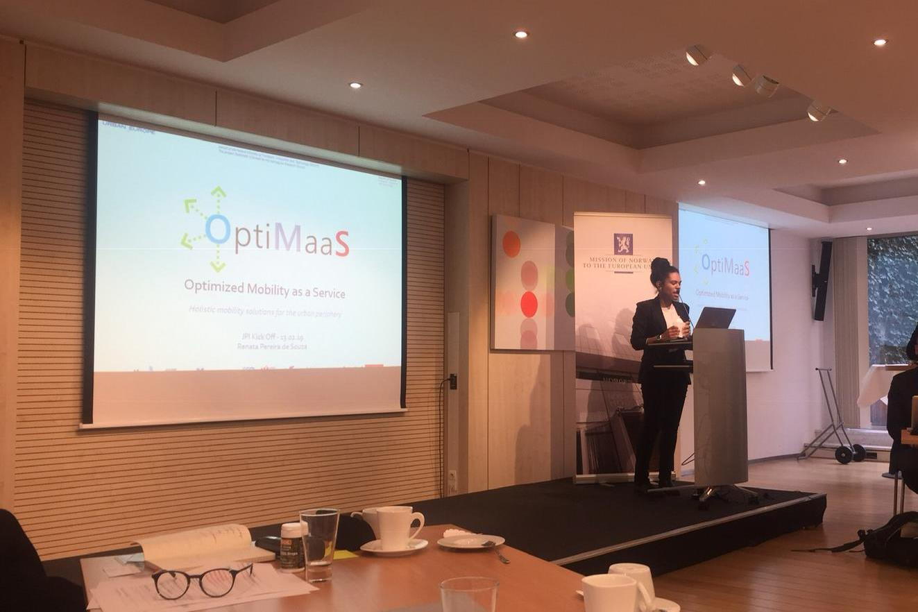 Renata Pereira De Souza Presents OptiMaaS At JPI Urban Europe Event
