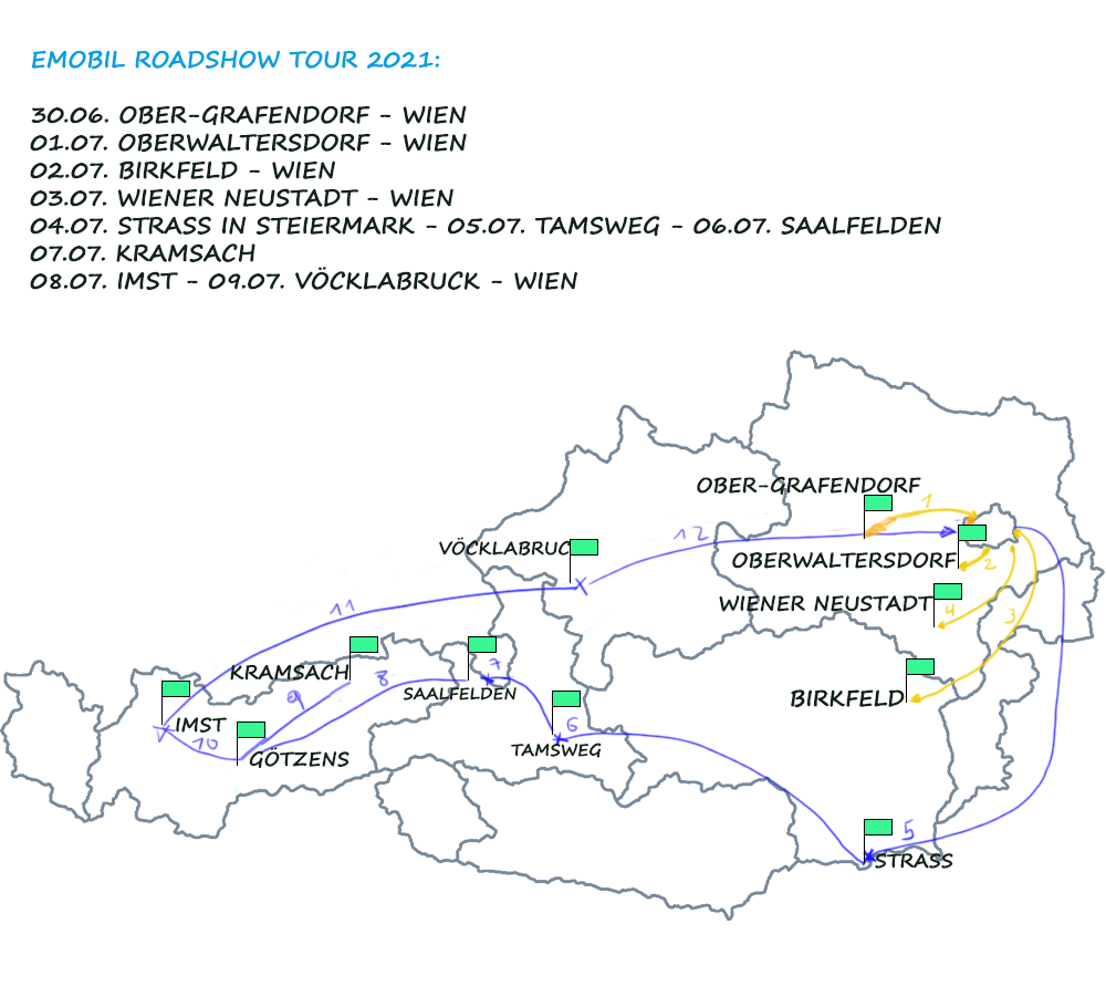 Emobil Roadshow: 10 Tage. 10 Gemeinden.